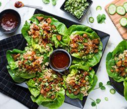 Korean Lettuce Wraps with Seitan and Ssam Sauce