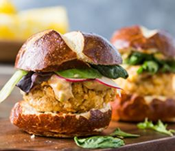 Fabcake Sliders with Caper Remoulade and Corn on the Cob