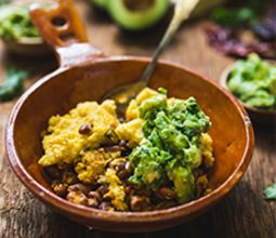 Tamale Pie with Quick Guacamole and Poblano Pepper