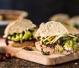 Thanksgiving Sandwich with Sage Roasted Brussels and Classic Gravy
