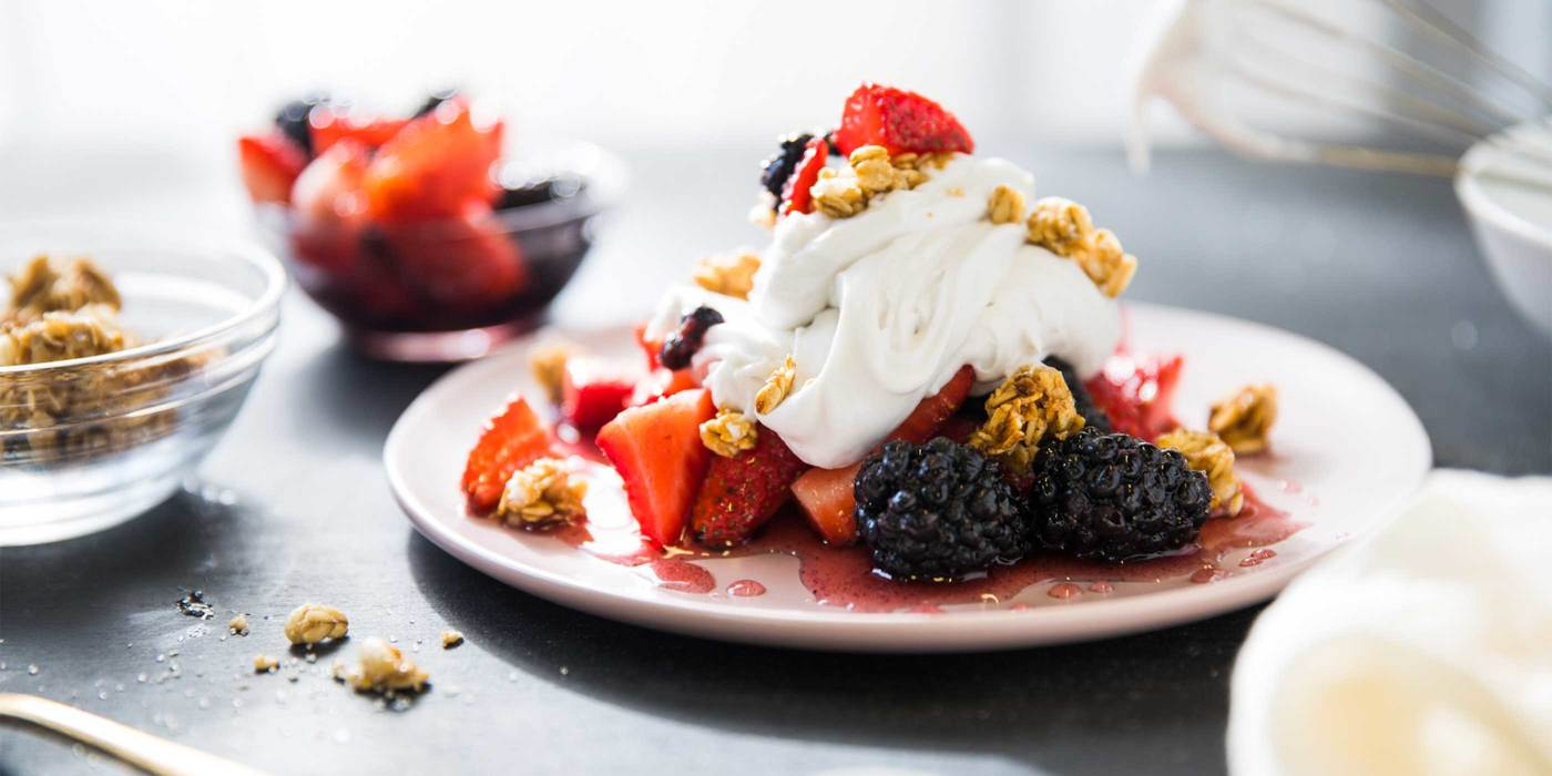 Macerated Berries with Coconut Whipped Cream
