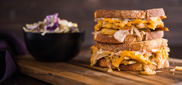 Tempeh Reubens with Thousand Island Dressing & Classic Coleslaw