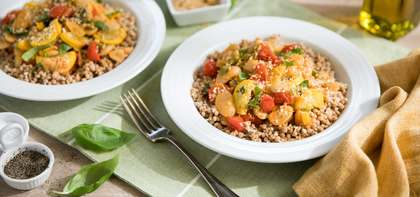 Butter Bean Ragout with Cherry Tomatoes & Israeli Couscous