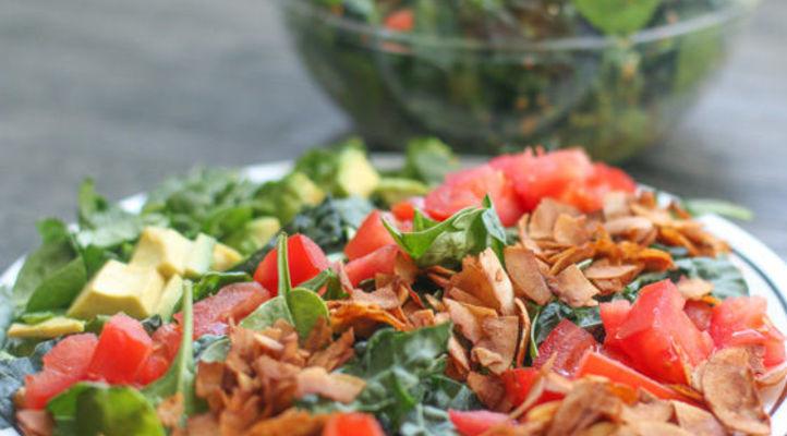 Cobb Salad with Coconut Bacon