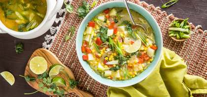 Thai Coconut Corn Chowder with Fresh Chile & Lime