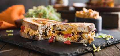 Harvest Vegetable Melt with Butternut Squash & Zesty White Bean Hummus