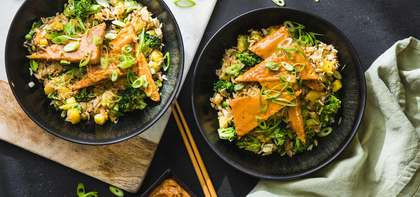 Peanut Tempeh with Mango & Green Fried Rice