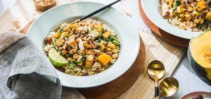 Kabocha Squash Curry with Toasted Coconut & Dates