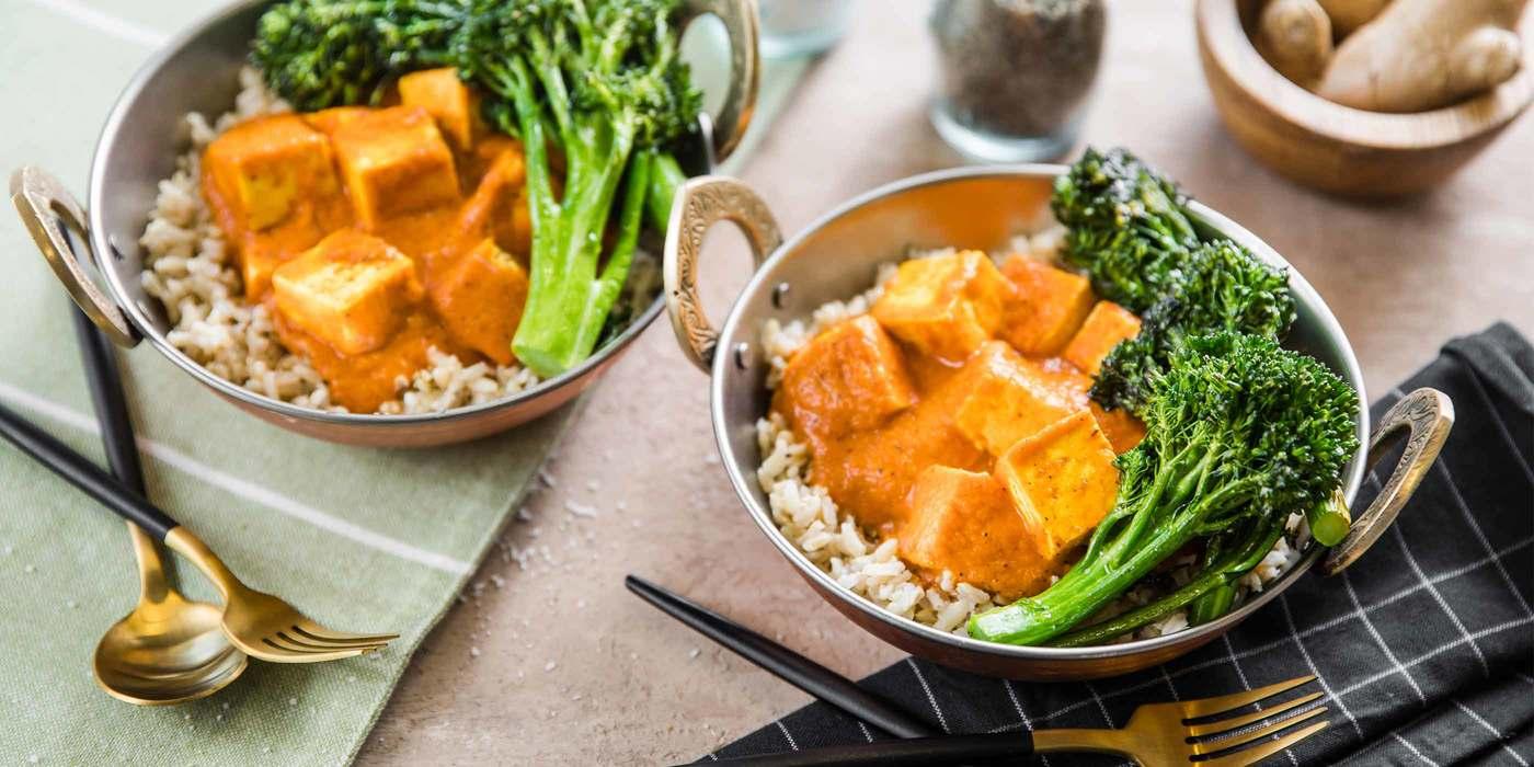 Tikka Masala with Tofu Paneer & Roasted Broccolini