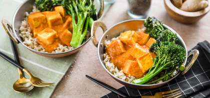 Tikka Masala with Tofu Paneer & Roasted Broccolini