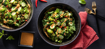 Thai-Style Broccoli Salad with Cashew Sauce & Mung Beans