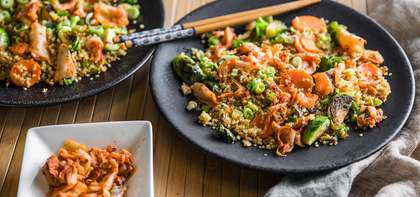 Quinoa Fried Rice with Confetti Vegetables & Kimchih