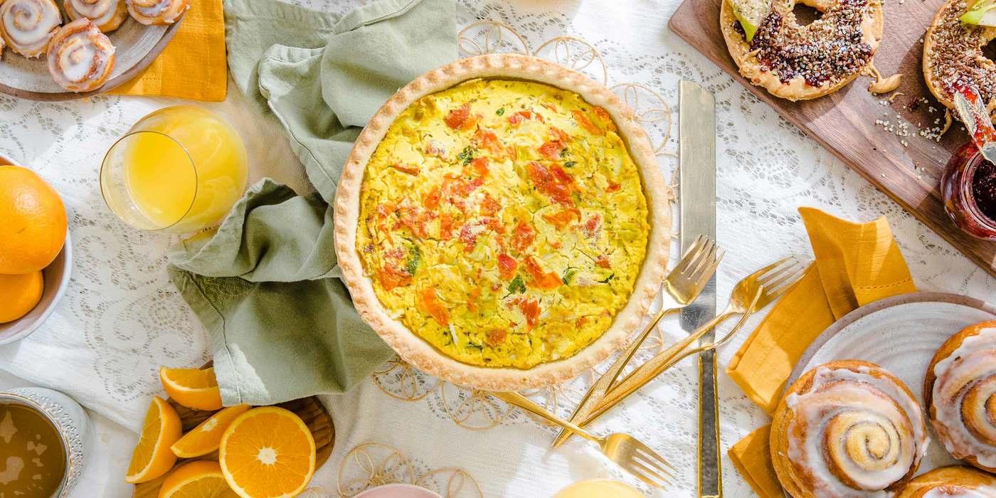 Leek and Sun-Dried Tomato Quiche