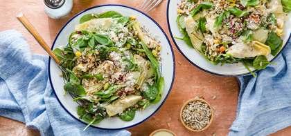 Lemon Basil Artichoke Bowl with Spinach & Parmesan