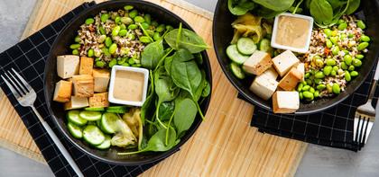 Sushi Bowl with Teriyaki Tofu & Pickled Ginger