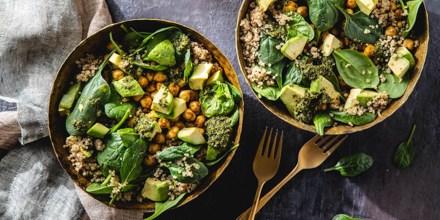 Indian Spiced Chickpea Bowls with Quinoa & Avocado