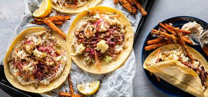 Roasted Cauliflower Wraps with White Bean Hummus & Olive Tapenade