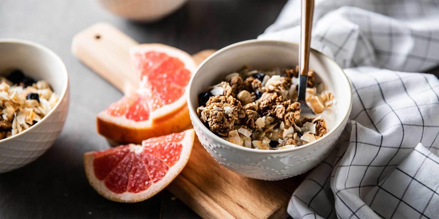 Ancient Grain Granola Bowls with Blueberries & Grapefruit