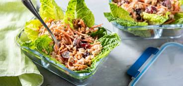 Waldorf Chickpea Salads with Grapes & Lettuce Cups
