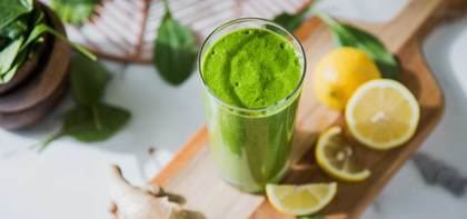 Green Goddess Smoothie with Sprouted Brown Rice Protein