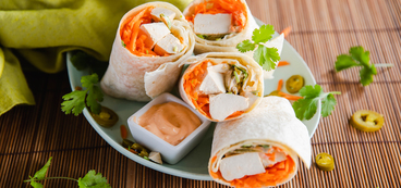 Banh Mi Wraps with Carrots & Pickled Jalapenos