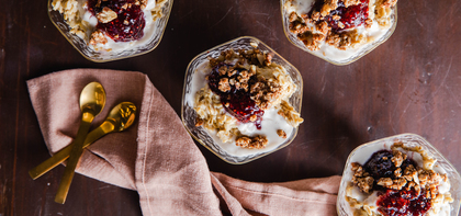 Raspberry Jam Overnight Oats with Ceylon Cinnamon Crunch