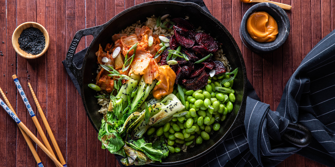Korean Rice Cake Recipe Gochujang: Korean BiBimBap With Gochujang Roasted Beets & Crispy