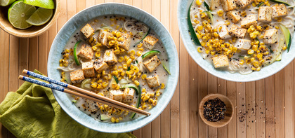 Coconut Corn Ramen with Zucchini & Smoked Nori Spice