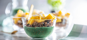 Granola Bowls with Mango & Spirulina