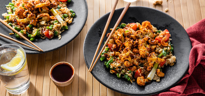 Tamarind Cauliflower with Gingered Fried Rice & Cashews