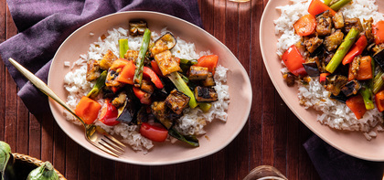 Thai Skillet Eggplant with Coconut Jasmine Rice