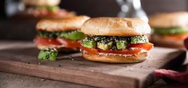 268 126 vegan avocadobagelsandwichwitheverythingcreamcheese hero
