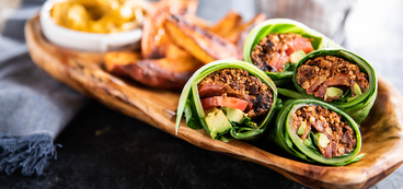 Collard Green Burritos with Walnut Meat & Queso