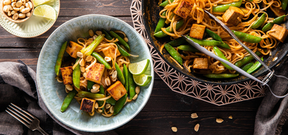 Thai Tofu Curry with Sugar Snap Peas & Peanuts