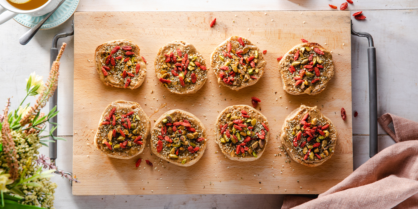 Superfood Toasts with Almond Butter & Goji Berries