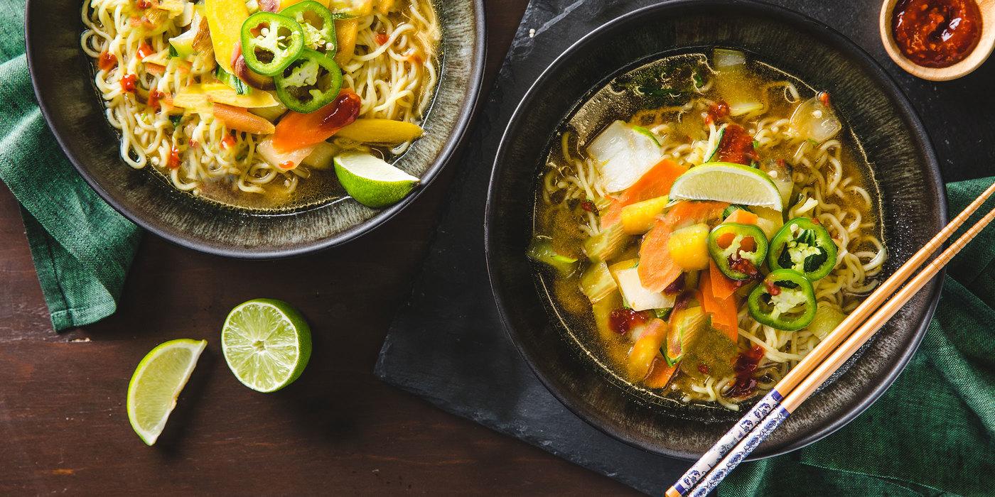 Vietnamese-Style Ramen with Fresh Noodles & Bok Choy