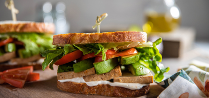 Tofu Sandwiches with Tomato, Lettuce & Avocado