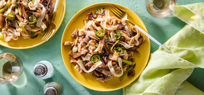 Biang Biang Noodles with Seitan & Chile Oil