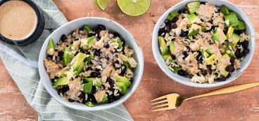 Black Bean Bowls with Avocado & Ranch Lime Dressing