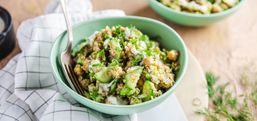 Green Goddess Quinoa Bowls with Fresh Dill & Ranch Dressing