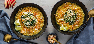 Coconut Apple Dal with Red Lentils & Fresh Ginger