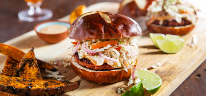 Tex Mex Burgers with Curtido Slaw & Chipotle Aioli