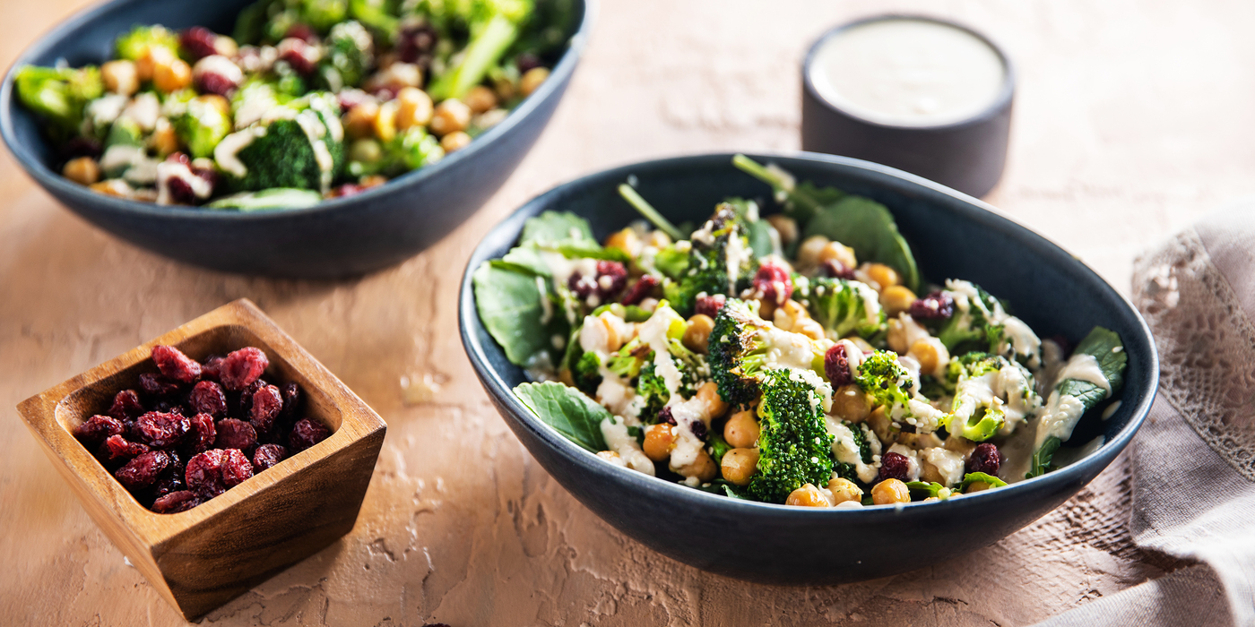Miso Tahini Broccoli Bowls with Chickpeas