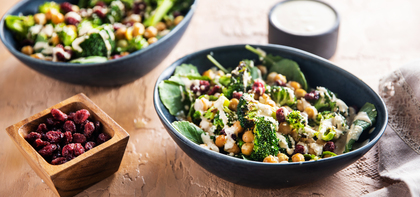 Miso Tahini Broccoli Bowls with Chickpeas