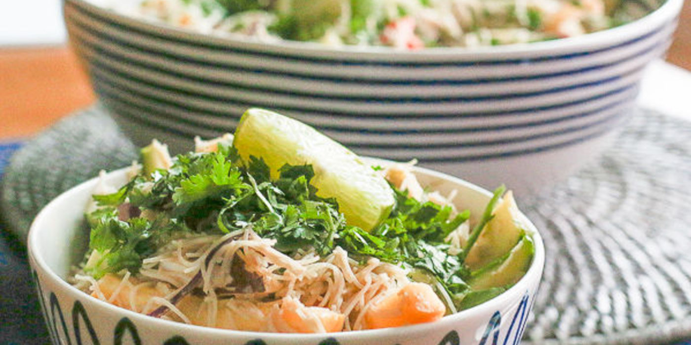 Vegetable Pad Thai with Fresh Coconut