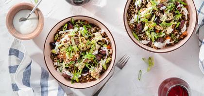 Mediterranean Fried Rice with Sumac Cauliflower & Za'atar Aioli