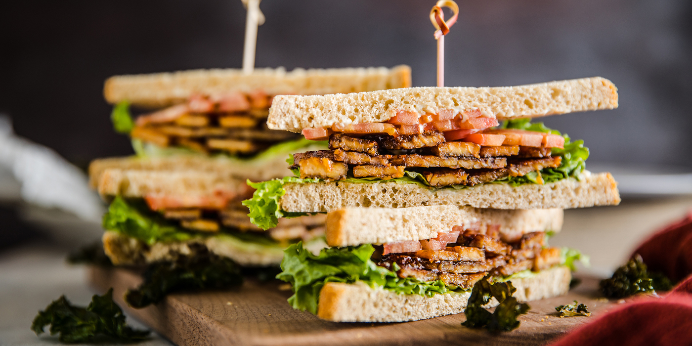 Tempeh BLTs with Garlicky Kale Chips