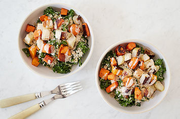 Kale and Quinoa Bowl with Tahini Drizzle