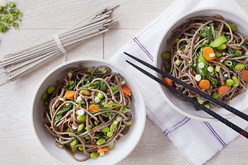 Soba Noodles with Bok Choy and Edamame