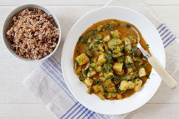 Green Gumbo with Potatoes and Zucchini